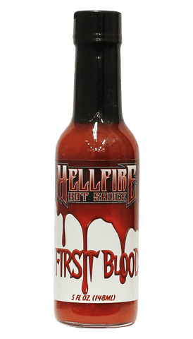 Hellfire - First Blood Hot Sauce 5oz - Hot Sauce Willie's