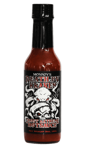 Monroy's Original Hot Sauce - Death by Kraken Ghost Extreme Hot Sauce 5oz - Hot Sauce Willie's