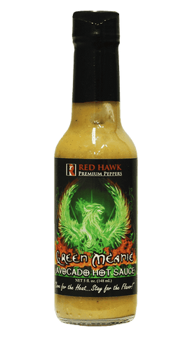 Red Hawk Premium Peppers - Green Meanie Avocado Hot Sauce 5oz