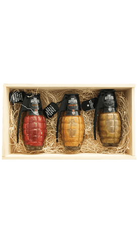 The General's Hot Sauce Gift Pack in Wooden Crate