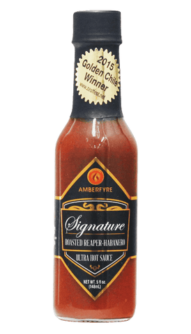 AmberFyre - Signature Roasted Reaper Habanero Ultra Hot Sauce 5oz