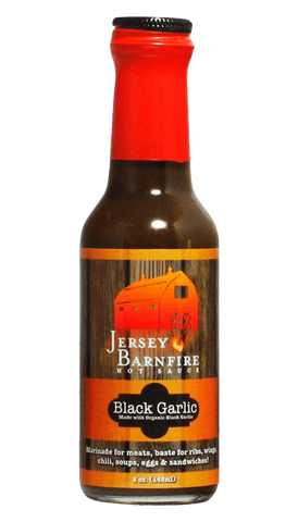 Jersey Barnfire Black Garlic Hot Sauce 5oz - Hot Sauce Willie's