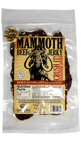 Born To Hula Mammoth Beef Jerky 2oz - Hot Sauce Willie's