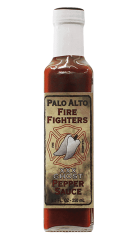 Palo Alto Fire Fighters XXX Ghost Pepper Sauce 8.5oz