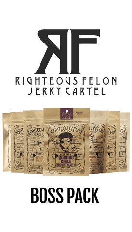Righteous Felon - Beef Jerky Boss Pack (featuring Voodoo Chile Carolina Reaper)
