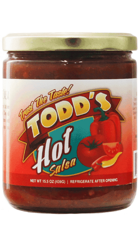 Todd's Hot Salsa 15.5oz