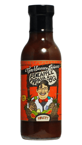 Torchbearer Pineapple Papaya BBQ Sauce 12oz - Hot Sauce Willie's