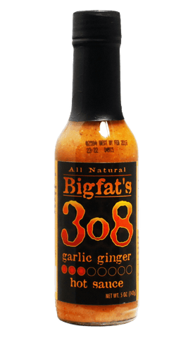 Bigfat's 3o8 Garlic Ginger Hot Sauce 5oz - Hot Sauce Willie's