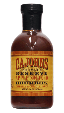 CaJohns Applewood Smoked Chipotle Bourbon BBQ 16oz - Hot Sauce Willie's