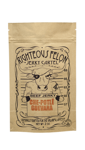Righteous Felon Che-Potlé Guevaea Beef Jerky 2oz - Hot Sauce Willie's