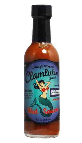 Woody's Original Clamlube Brand Davey Jones' Locker - Legendary Deep Sea Heat 5oz - Hot Sauce Willie's