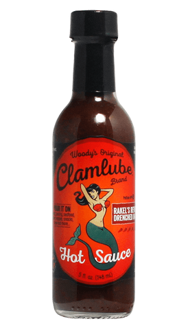 Woody's Original Clamlube Brand Rakel's Revenge - Drenched in Fire 5oz - Hot Sauce Willie's