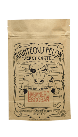 Righteous Felon Habanero Escobar Beef Jerky 2oz - Hot Sauce Willie's