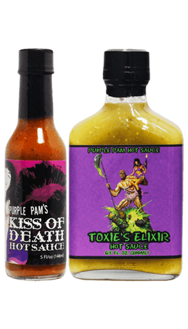 Hot Sauce Willie's - Purple Pam Hot Sauce - Combo Pack