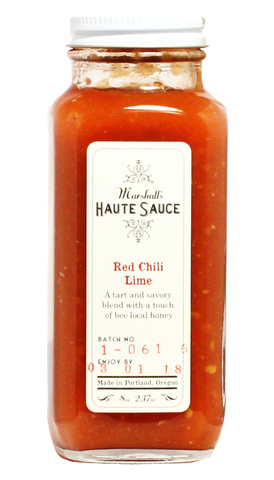 Marshall's Haute Sauce - Red Chili Lime 8oz - Hot Sauce Willie's