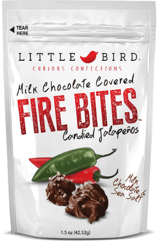 Little Bird Fire Bites Milk Chocolate and Sea Salt 1.5oz - Hot Sauce Willie's