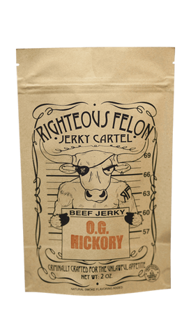 Righteous Felon O.G. Hickory Beef Jerky 2oz - Hot Sauce Willie's