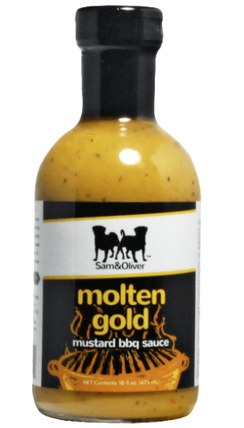 Sam & Oliver Molten Gold Mustard BBQ Sauce 16oz - Hot Sauce Willie's