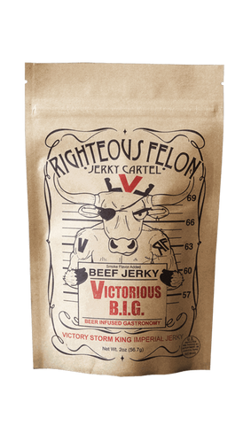 Righteous Felon Victorious B.I.G Beef Jerky 2oz - Hot Sauce Willie's