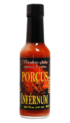 Voodoo Chile Sauces - Porcus Inférnum Bacon Hot Sauce 5oz - Hot Sauce Willie's