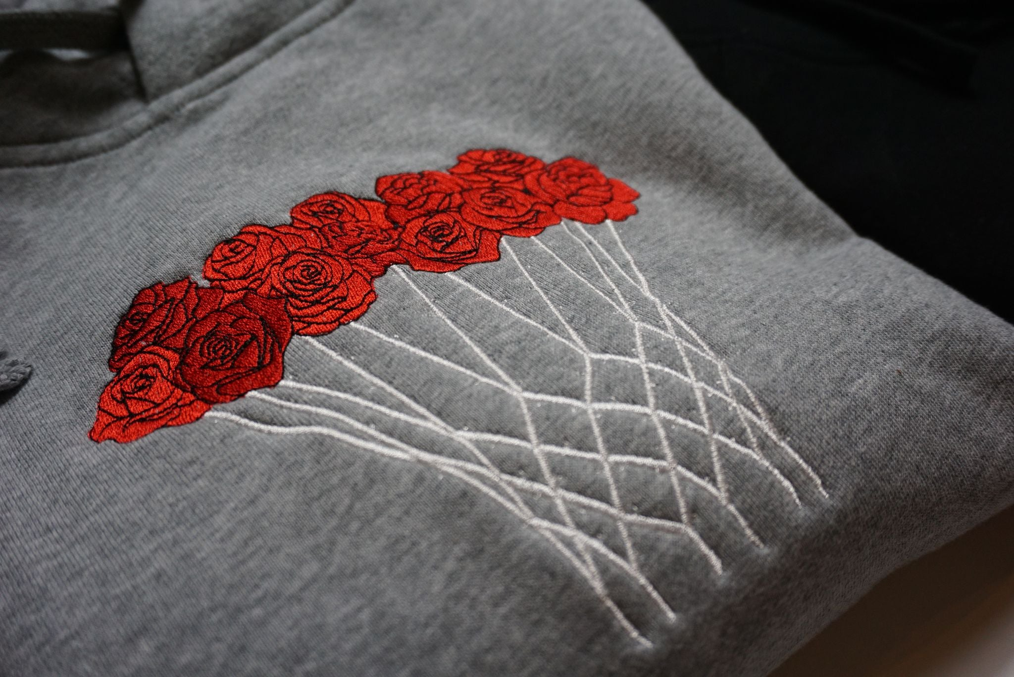 Basketball Bouquet (Roses Are Red) Embroidered Hoodie