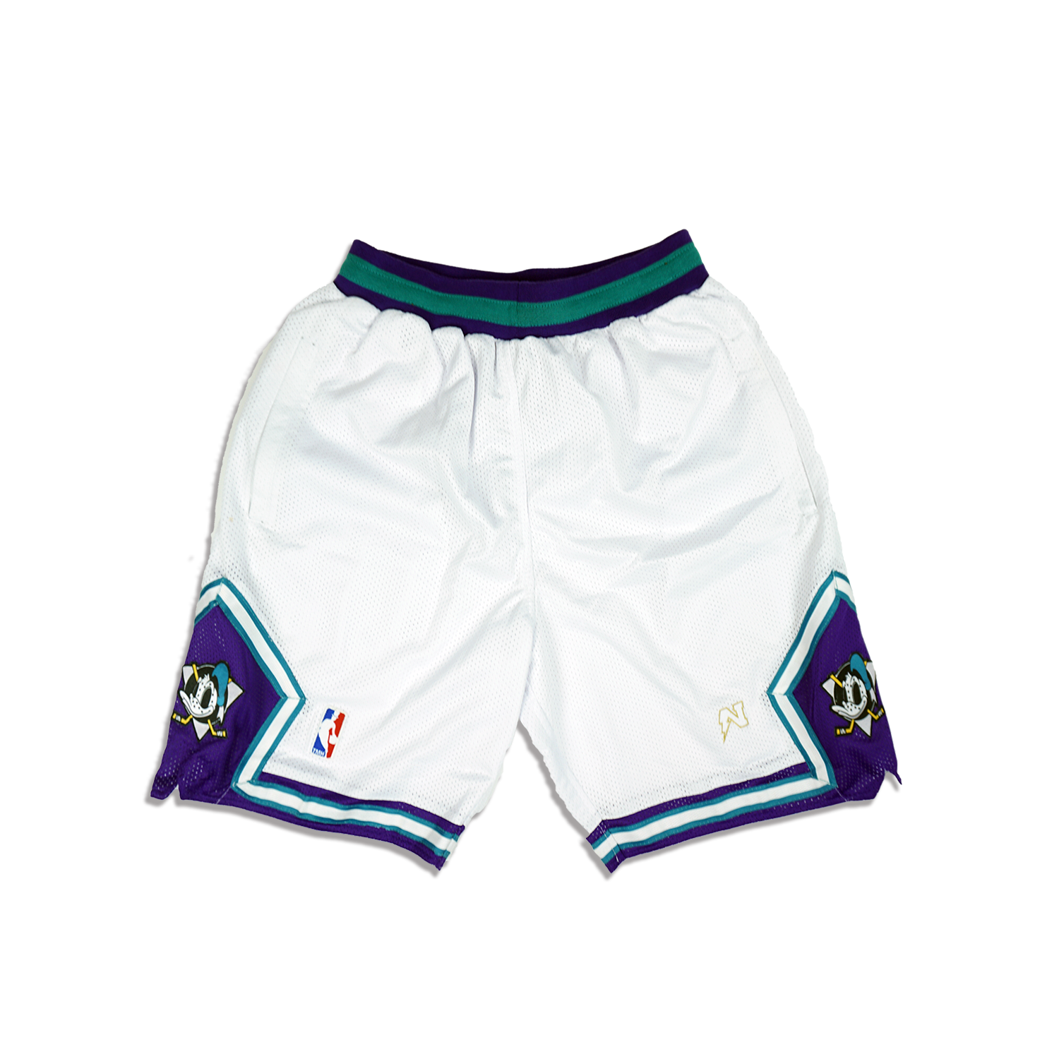 Mighty Donald  Basketball Shorts - White