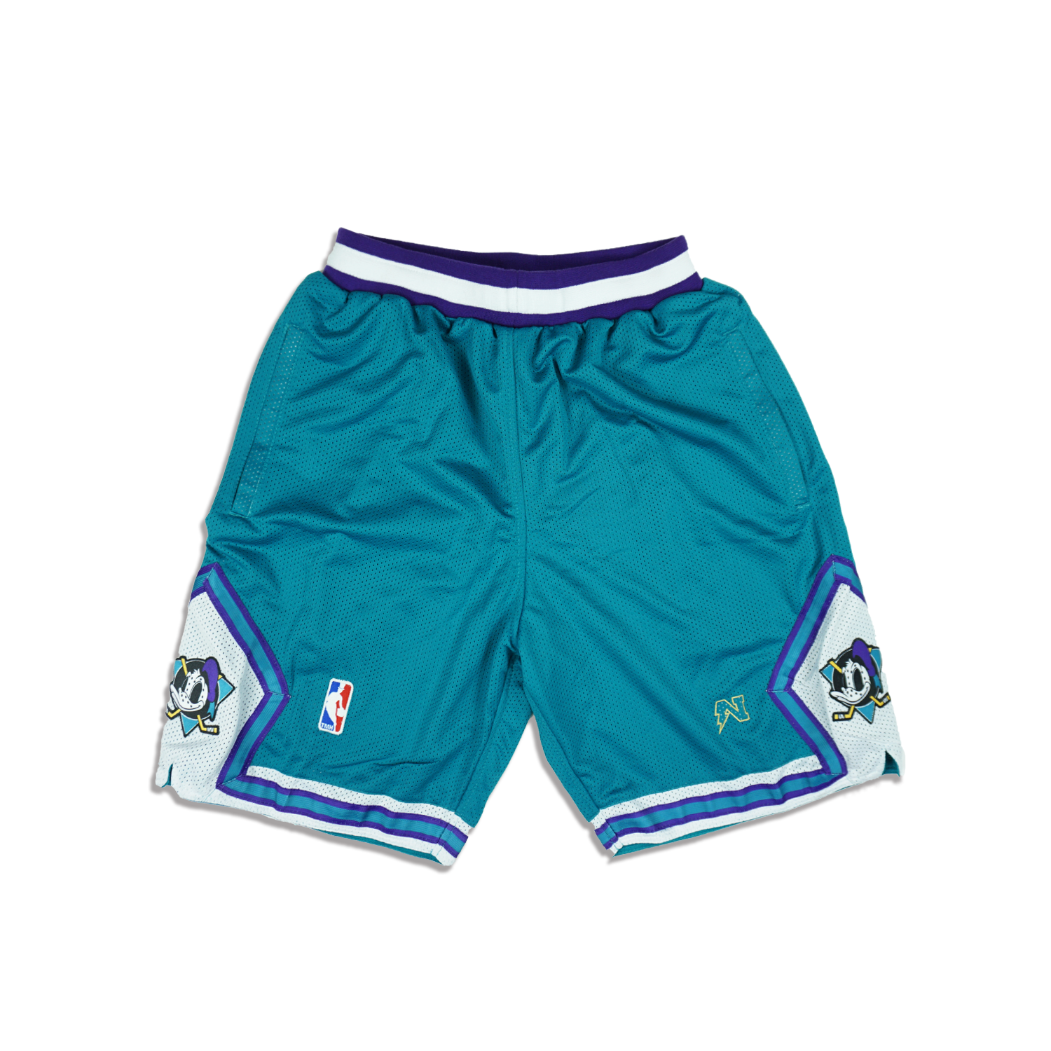 Mighty Donald  Basketball Shorts - Teal