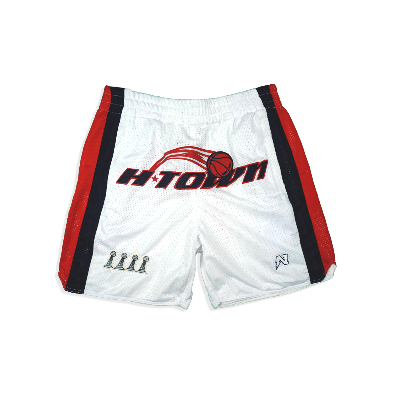 H-Town  - Basketball Shorts - White
