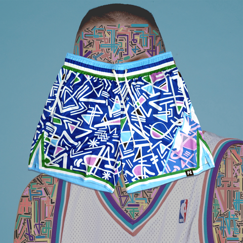 Ostertagmademedoit x NJS - Basketball Shorts