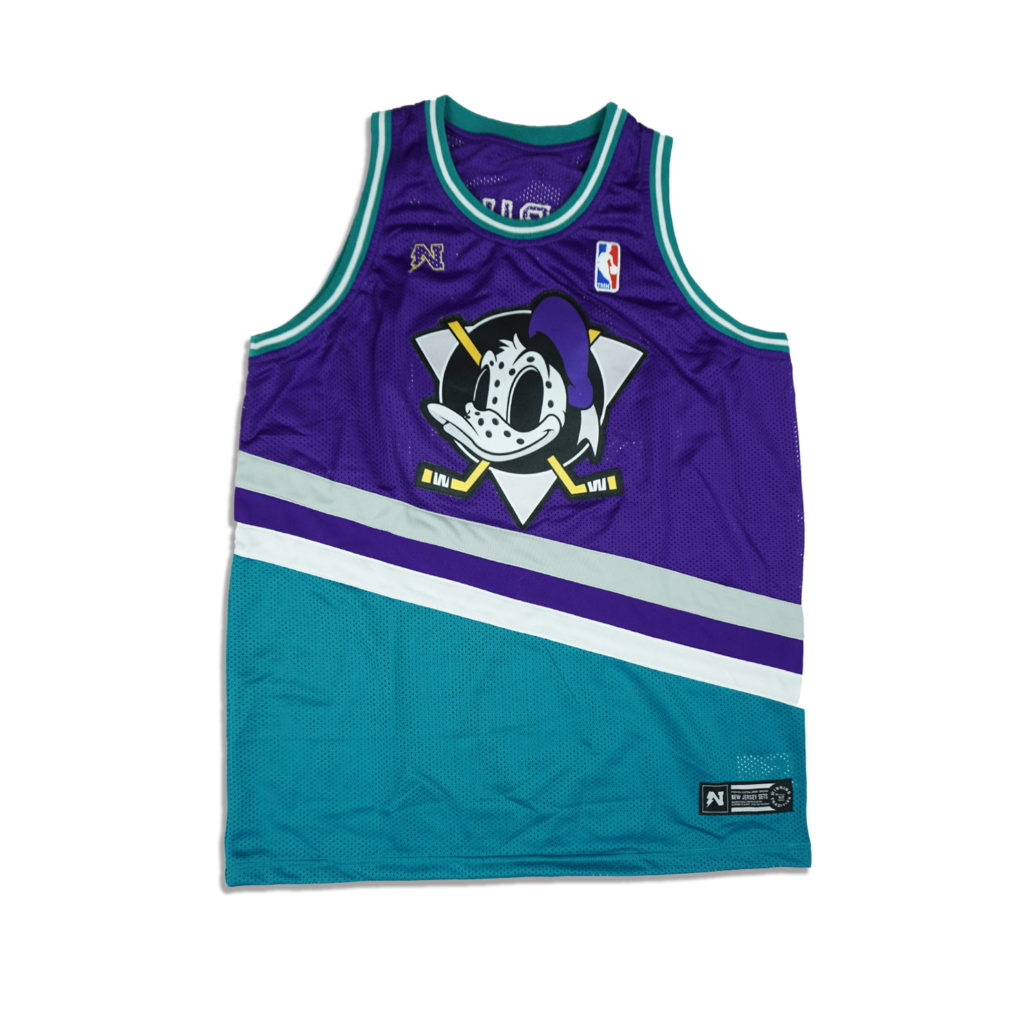 D. Duck  Basketball Jersey - Teal & Purple