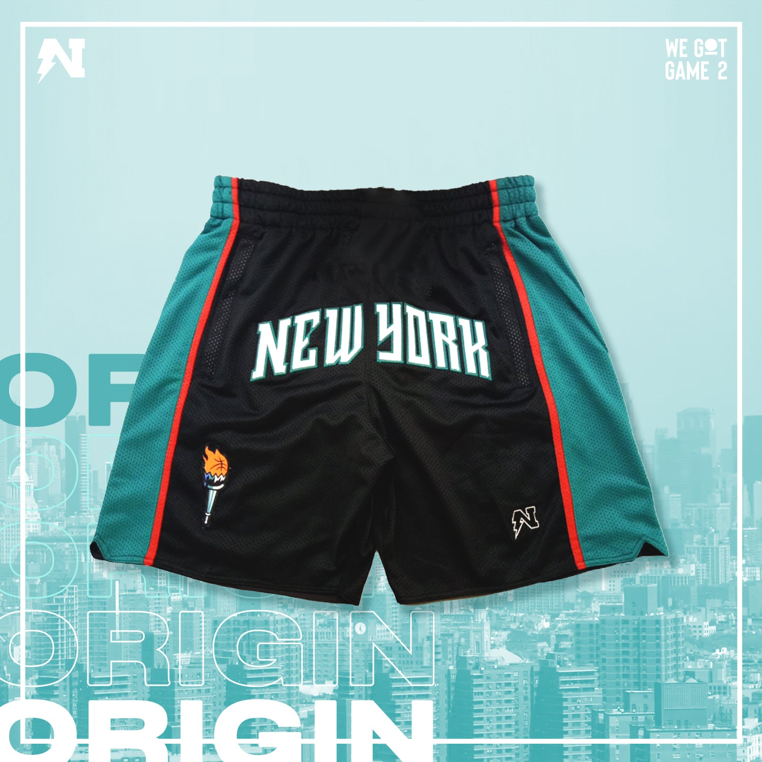 NYC - Basketball Shorts - Black