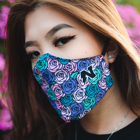 Rose Face cover - Purple