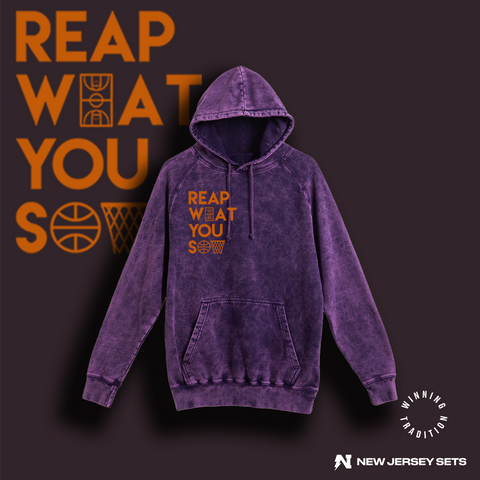 Reap What You Sow - Purple Cloud Vintage Hoodie
