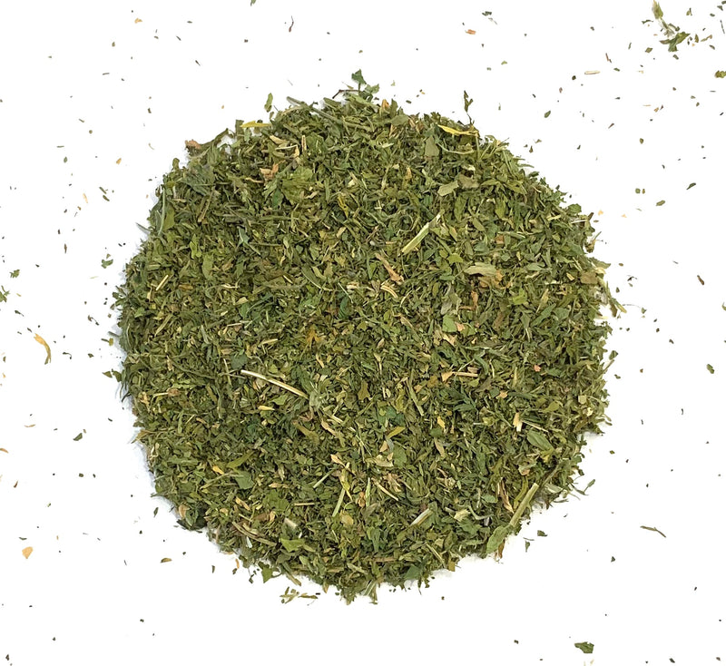 Alfalfa leaves cut