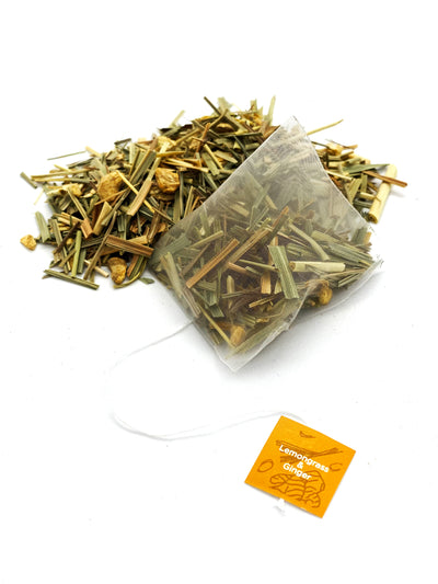 Organic Lemongrass & Ginger - Pyramid Tea Bags