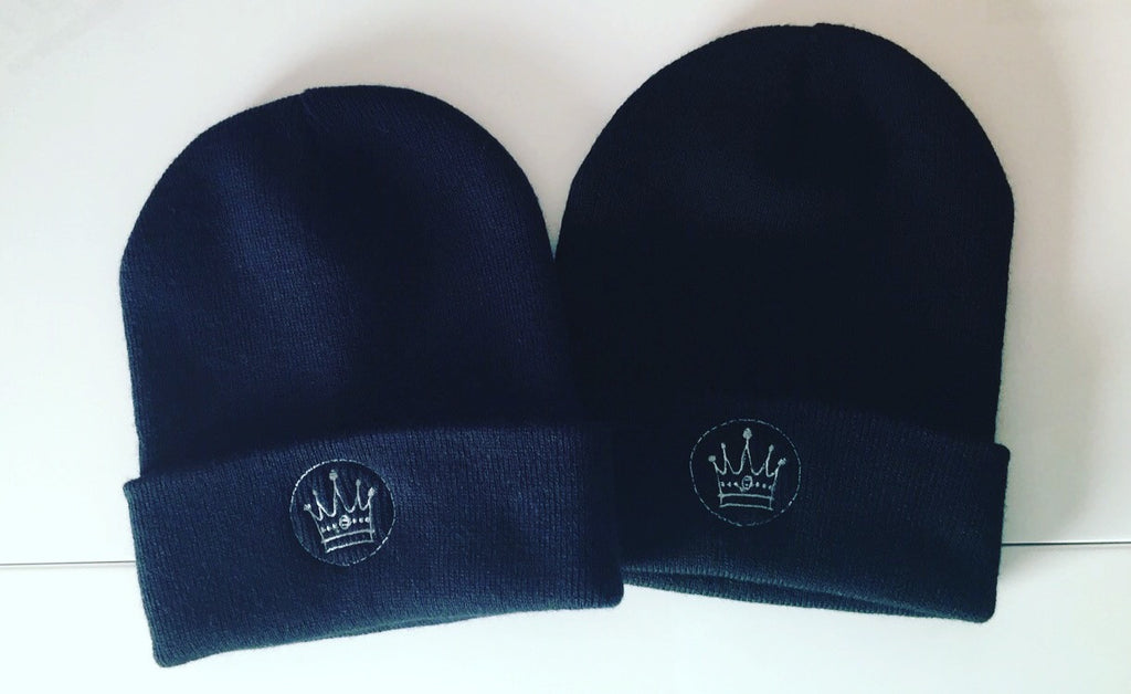 Embroidered Crown Logo Beanie