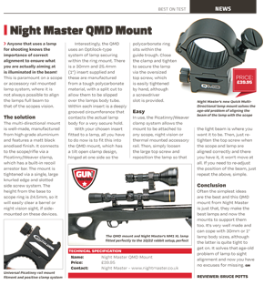 Night Master QMD Adjustable Rail Mount review by Bruce Potts