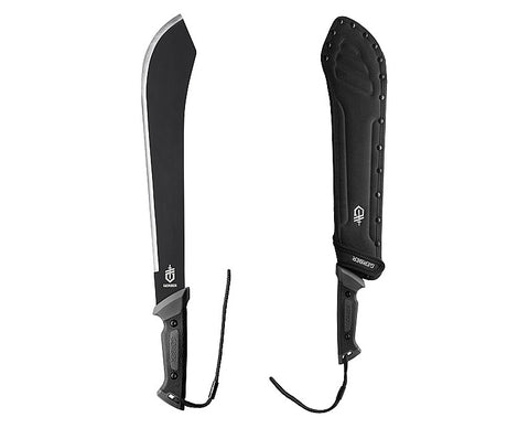 Nylon sheath with belt loop and D-ring attachments for multiple carrying options included