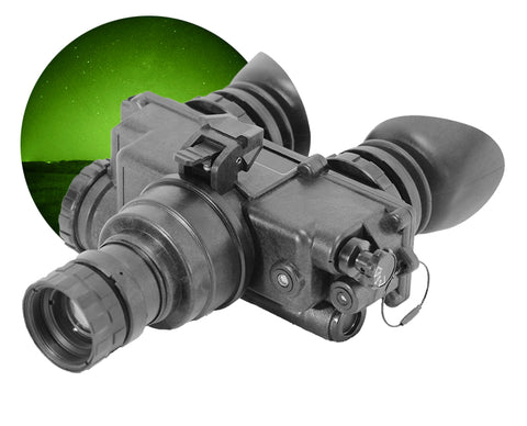 GSCI PVS-7 Single-Tube Night Vision Goggles Green Phosphor for Hunting