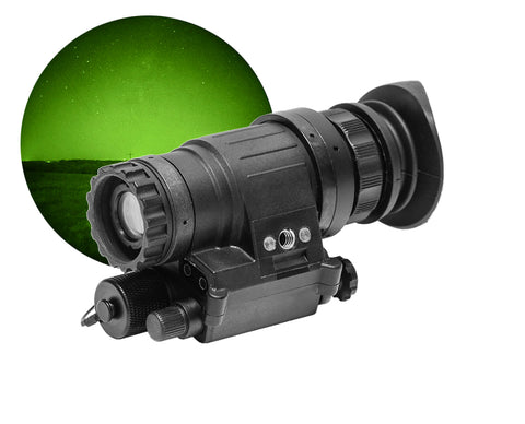 GSCI PVS-1451 Wide-FOV Night Vision Monocular / Add-on Green Phosphor for Hunting
