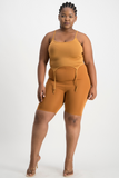 GABBY Strappy Tank Top - Brown Sugar