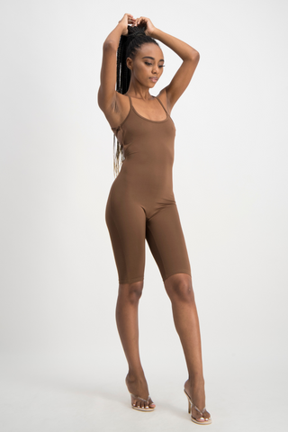 AALIYAH Tie Back Unitard - Pinecone