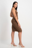 AMANDA Basic Dress - Pinecone