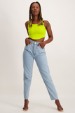 KAY Cropped Tank Top - Lime