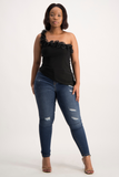 NICKY One Shoulder Ruffle Top