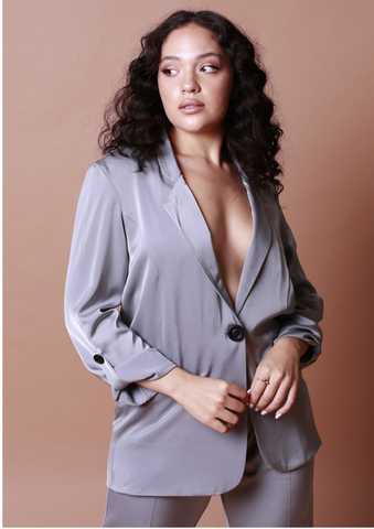 Tyra Soft Suit Jacket - Grey