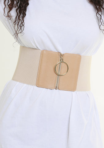 O-RING ELASTIC BELT - CREAM