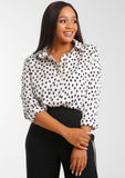 JENNA Printed Satin Blouse