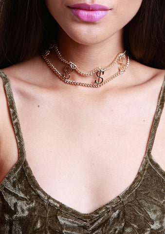 $$$ Money Maker Gold Choker