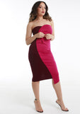 MINI Magenta & Burgundy Contrast Dress